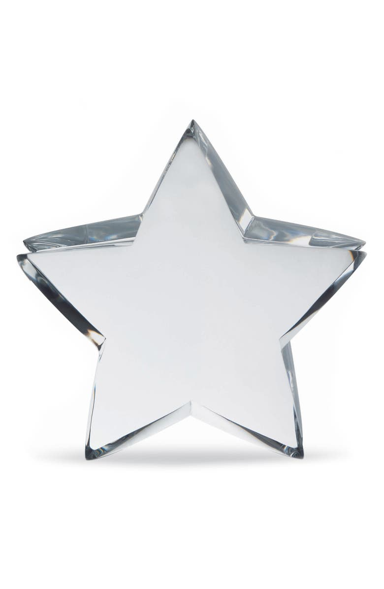 BACCARAT Zin Zin Lead Crystal Star, Main, color, CLEAR