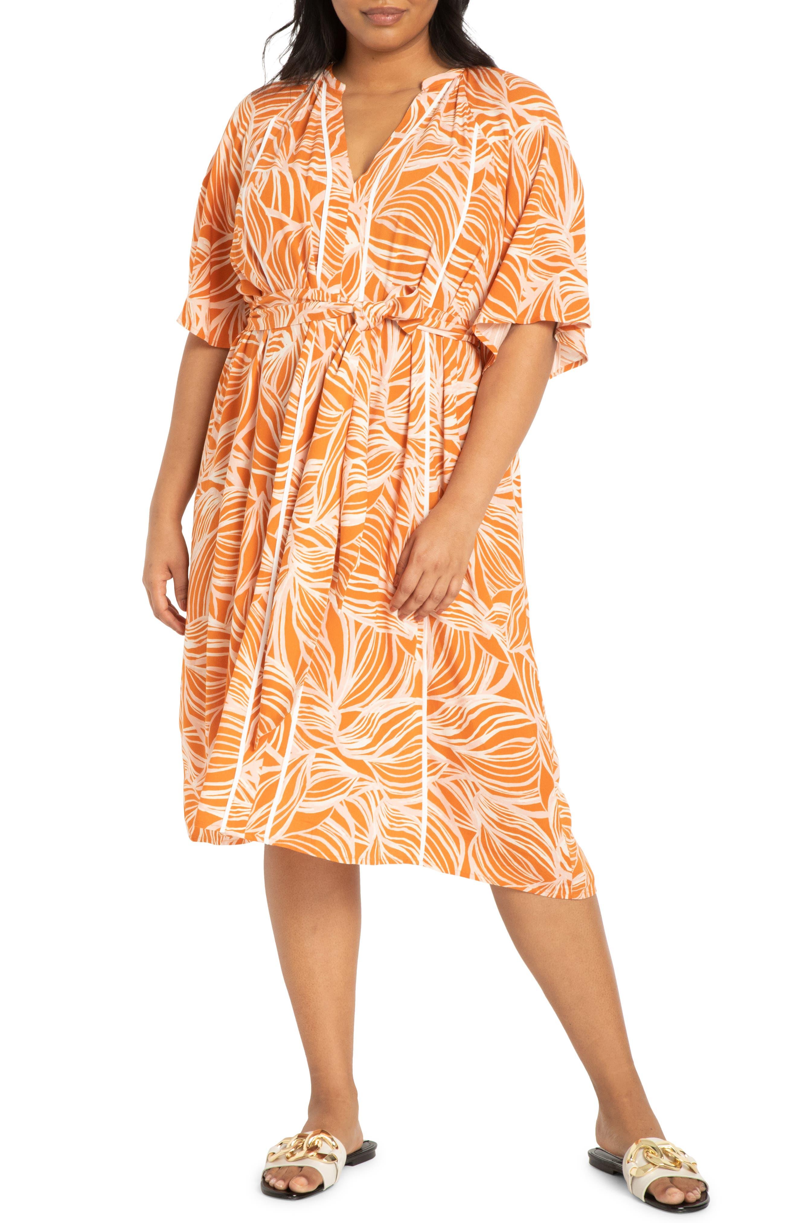 Belted Flutter Sleeve Midi Dress