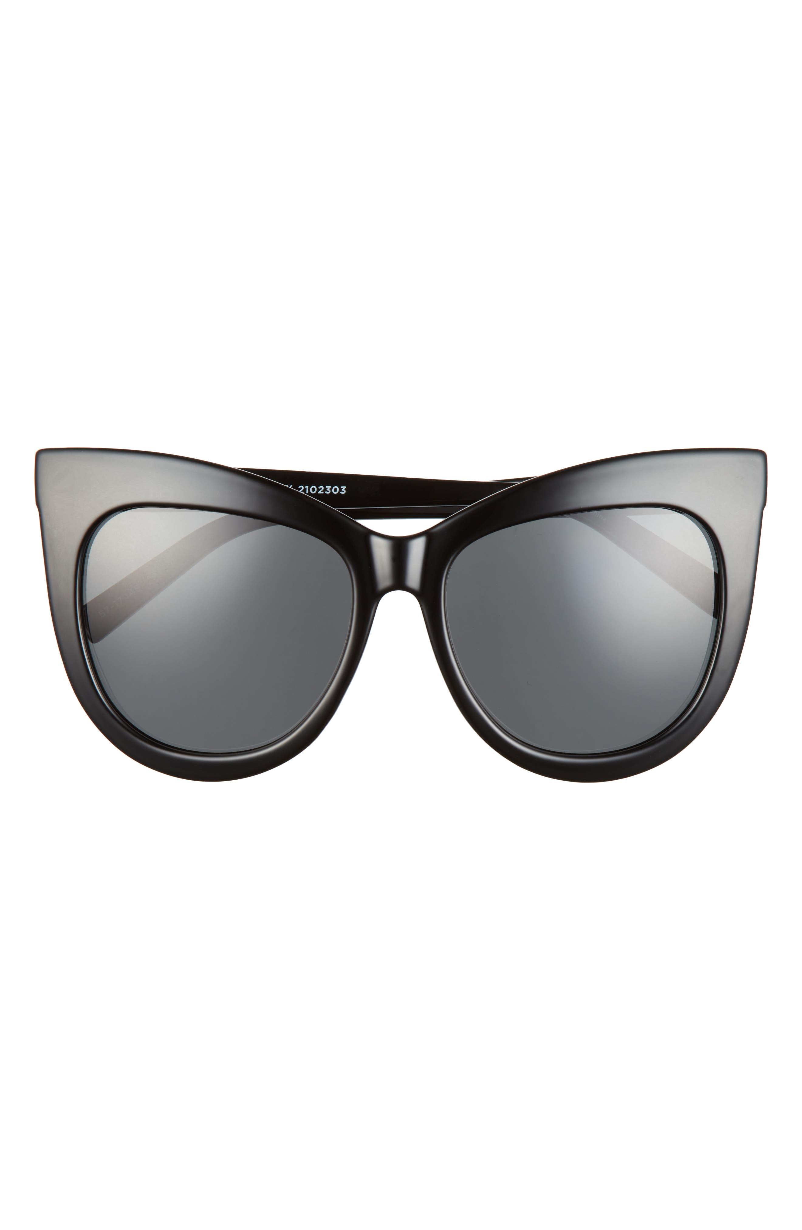 Hidden Treasure 57mm Cat Eye Sunglasses