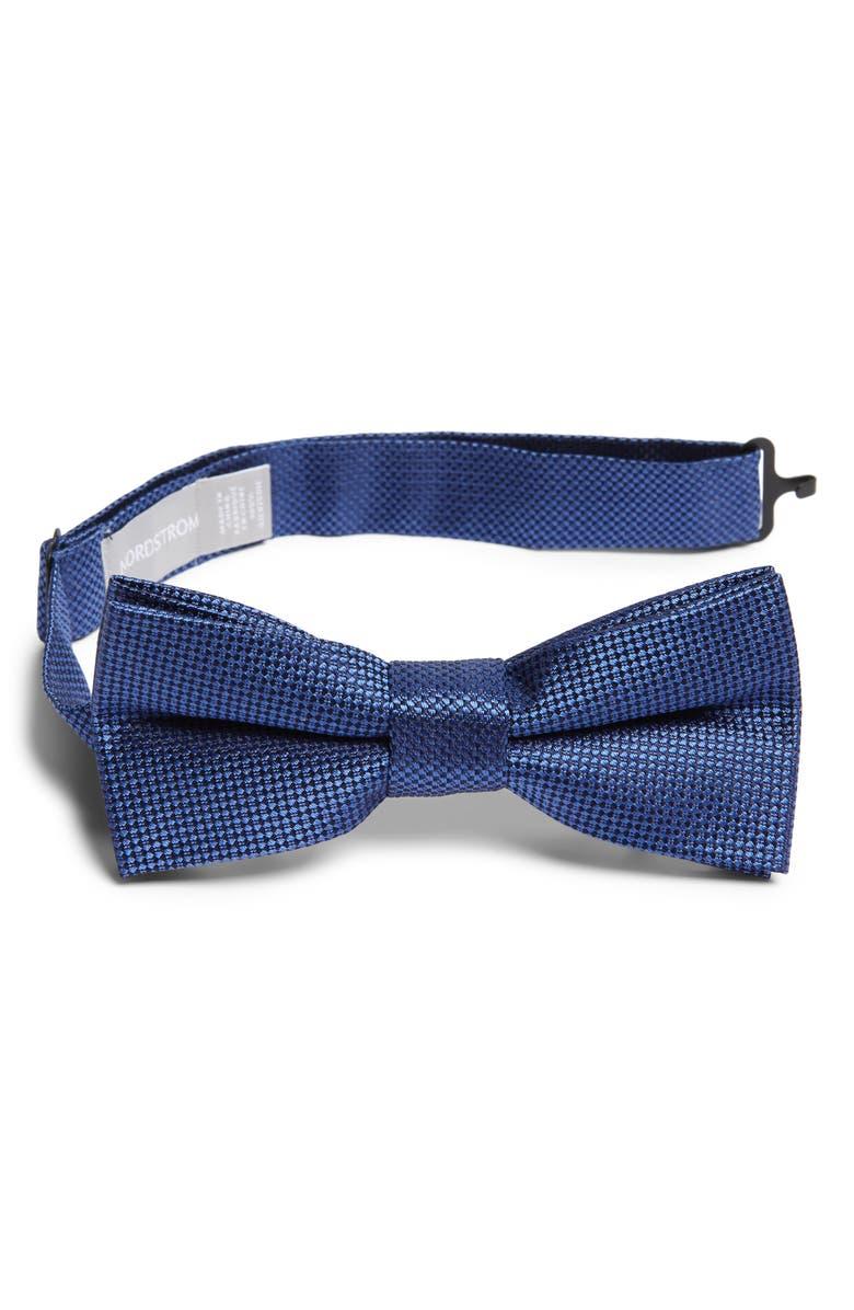 NORDSTROM Mason Solid Silk Bow Tie, Main, color, BLUE