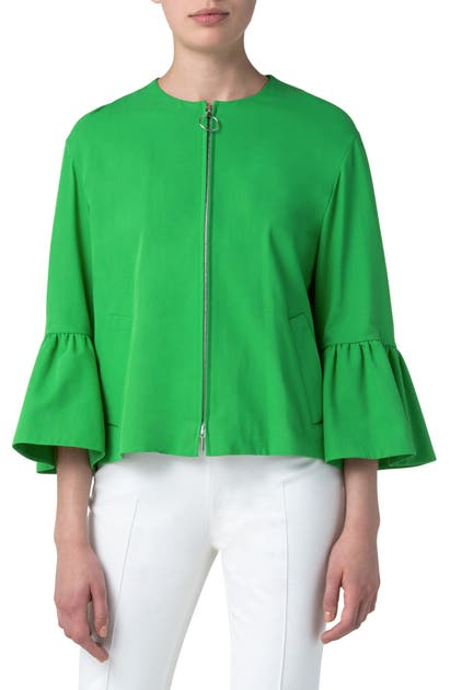 Akris Punto BELL SLEEVE STRETCH GABARDINE JACKET
