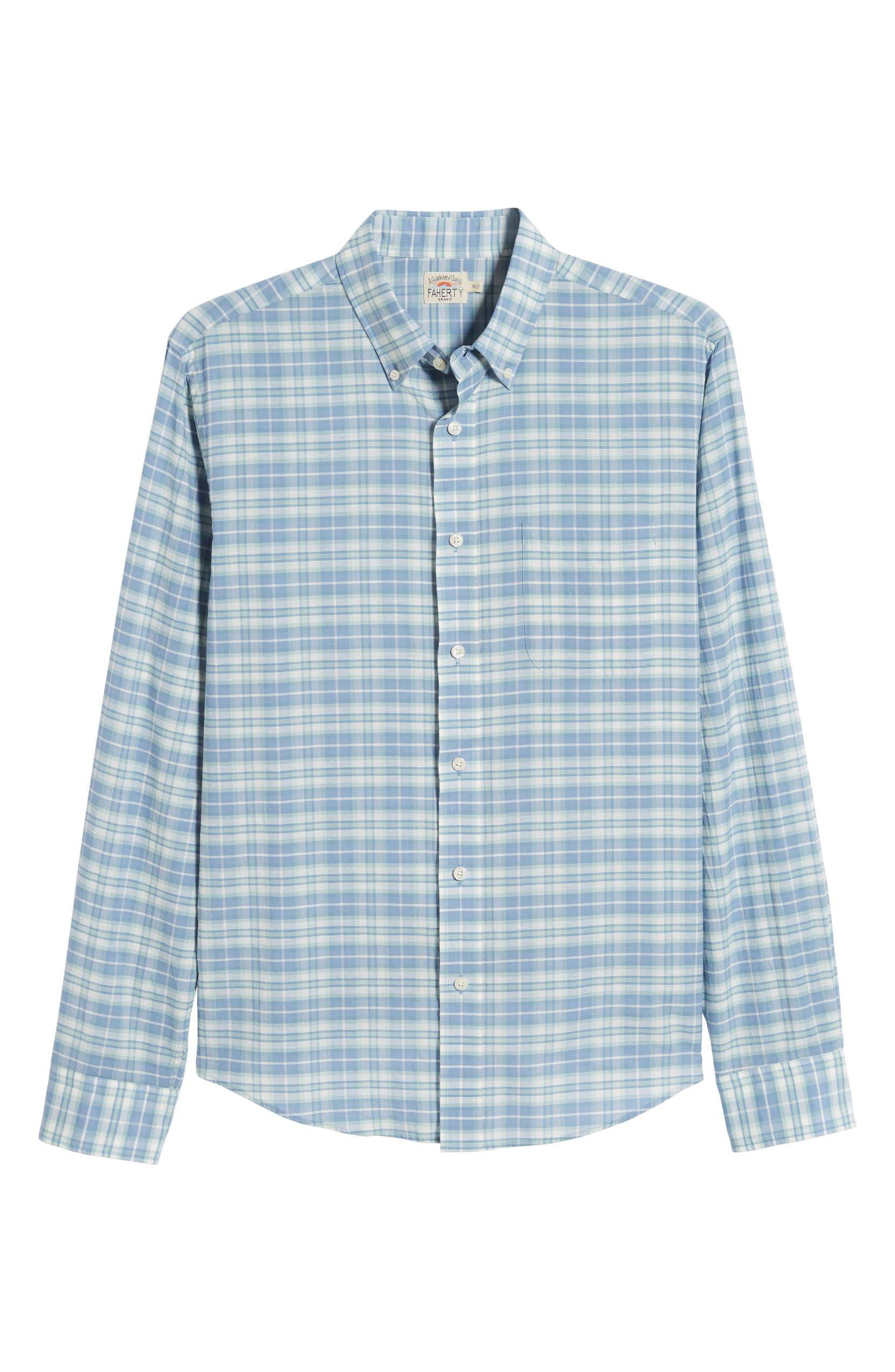 130a8995 Faherty Summer Blend Regular Fit Plaid Sport Shirt | Nordstrom