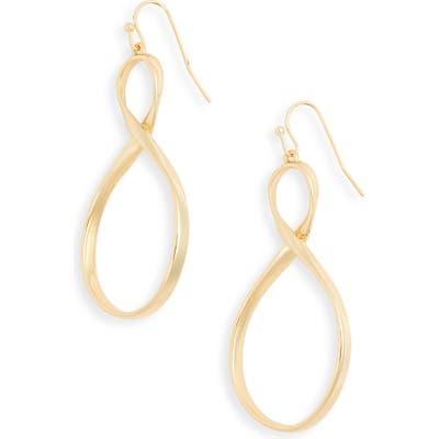 Sterling Forever Infinity Twist Earrings