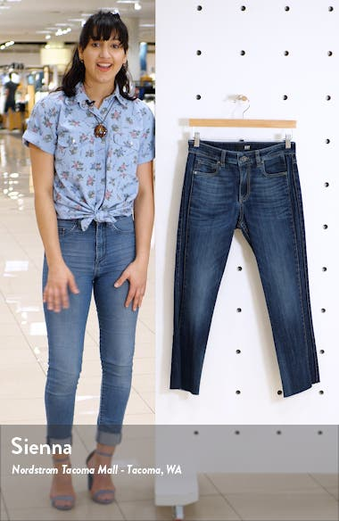 Side Inset Ankle Flare Jeans, sales video thumbnail