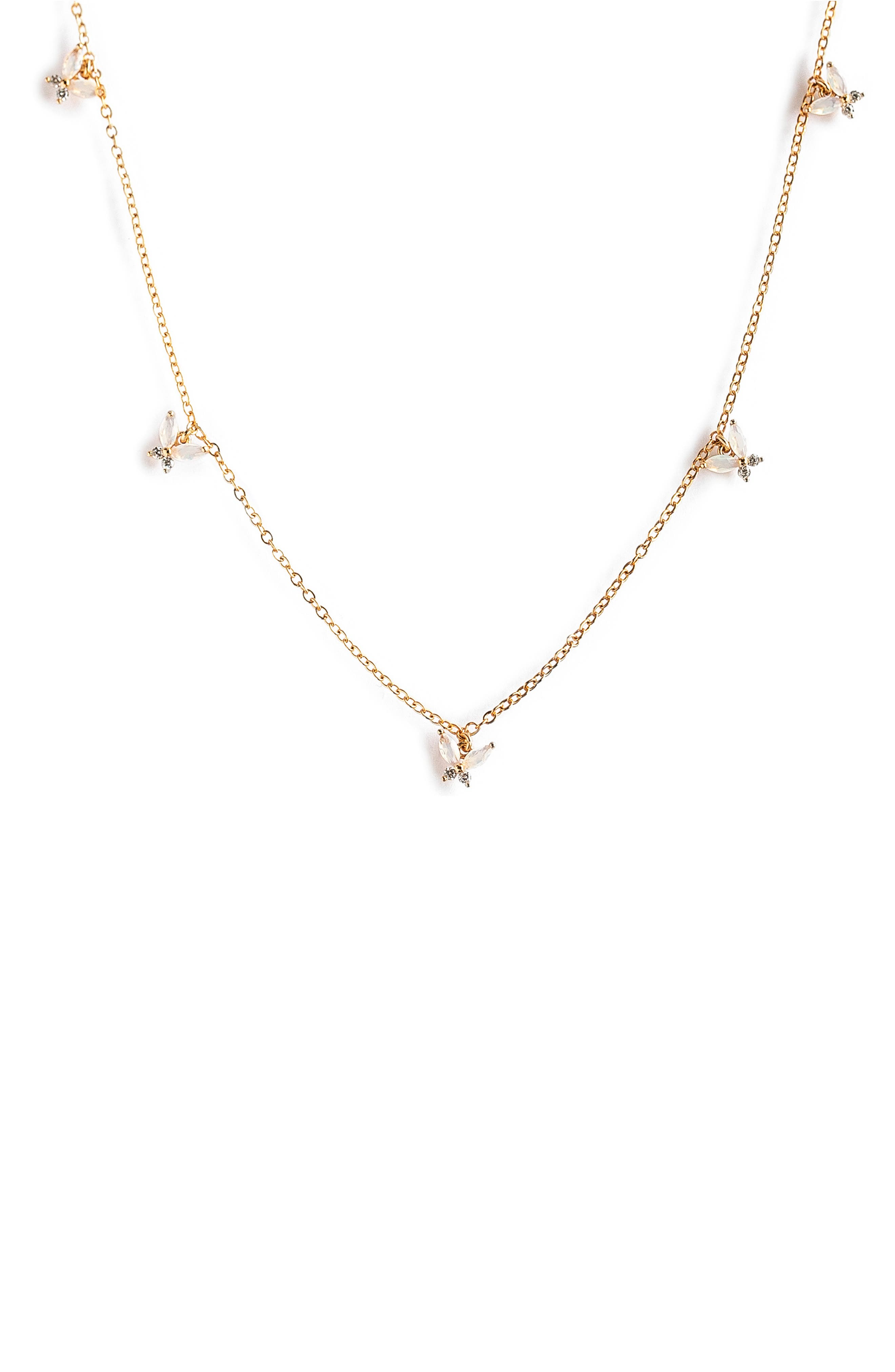 Milky Mari Butterfly Choker Necklace