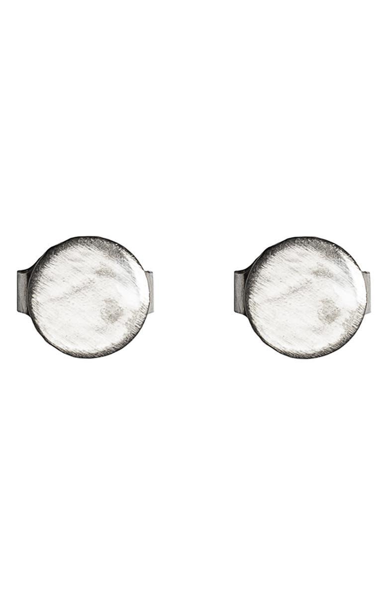 NASHELLE Button Stud Earrings, Main, color, SILVER