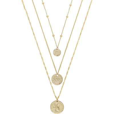 Ettika Set Of 3 Coin Pendant Necklaces