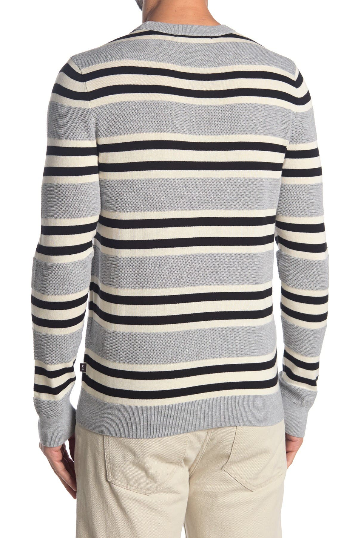 Image of Michael Kors Stripe Crew Neck Sweater