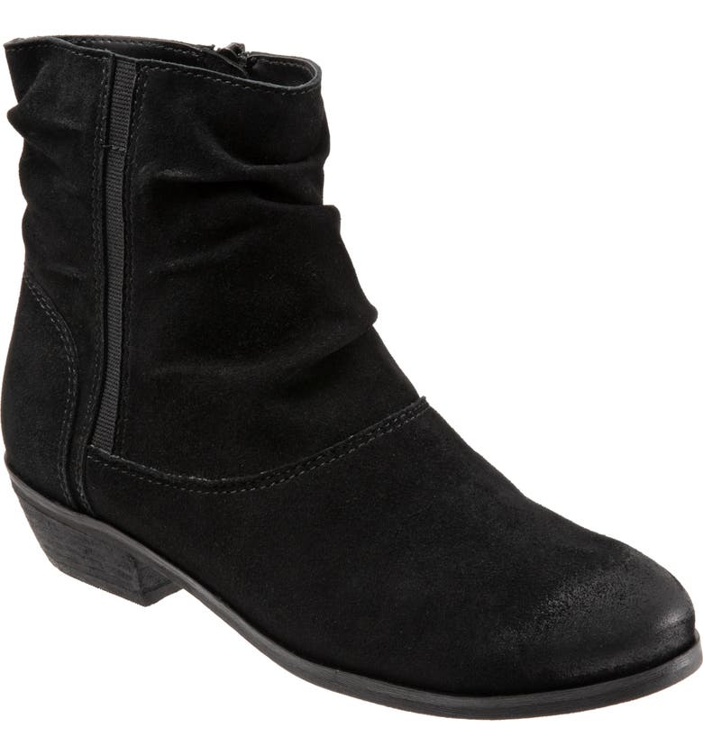 SOFTWALK<SUP>®</SUP> Rochelle Bootie, Main, color, BLACK SUEDE