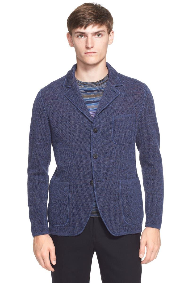 MISSONI Space Dye Knit Wool Jacket, Main, color, MEDIUM BLUE