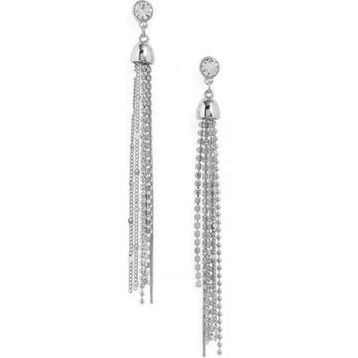 Halogen Stud To Tassel Earrings