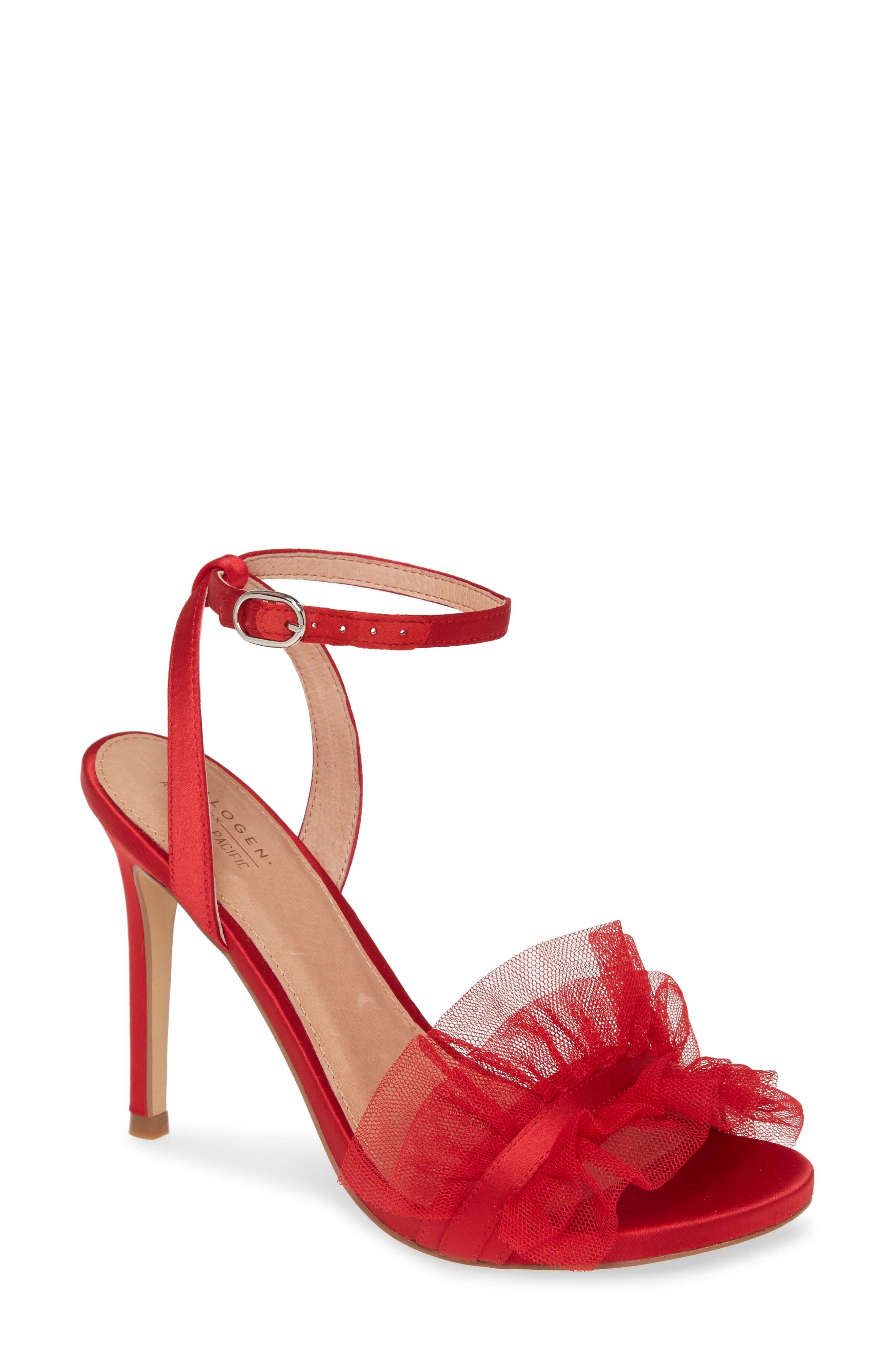 Halogen® x Atlantic-Pacific Angelle Ruffle Sandal (Women) (Nordstrom Exclusive)