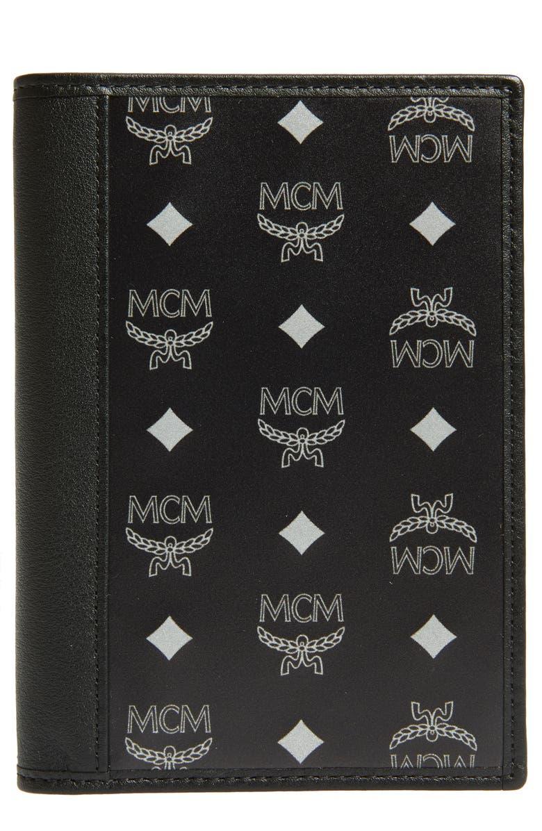 MCM Nylon Passport Holder, Main, color, 001