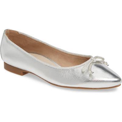 Paul Green Andre Pointy Toe Ballet Flat, US / 4.5UK - Grey