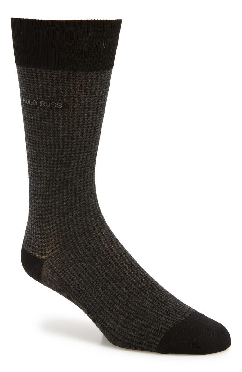 BOSS Minipattern Socks, Main, color, BLACK