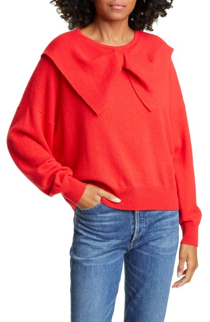 The Great Sweaters BOW NECK CASHMERE SWEATER