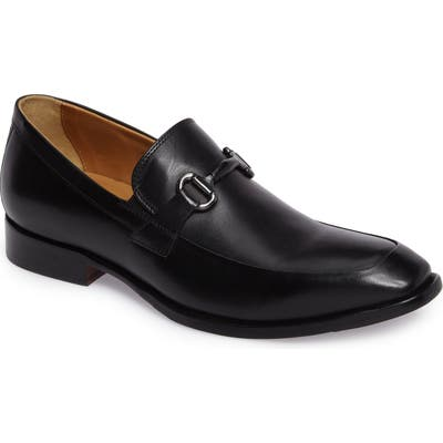 Johnston & Murphy Mcclain Bit Loafer- Black