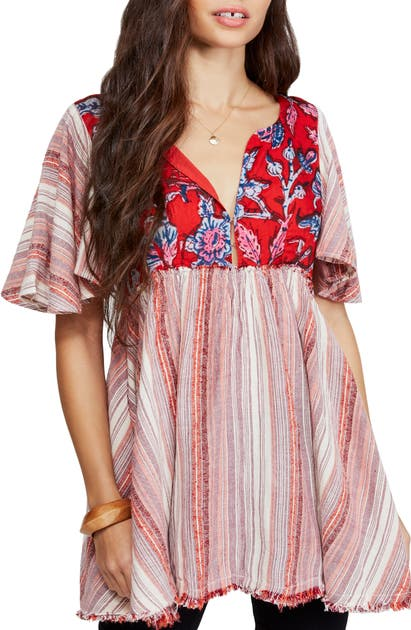 Free People Under The Sun Tunic Top In Red