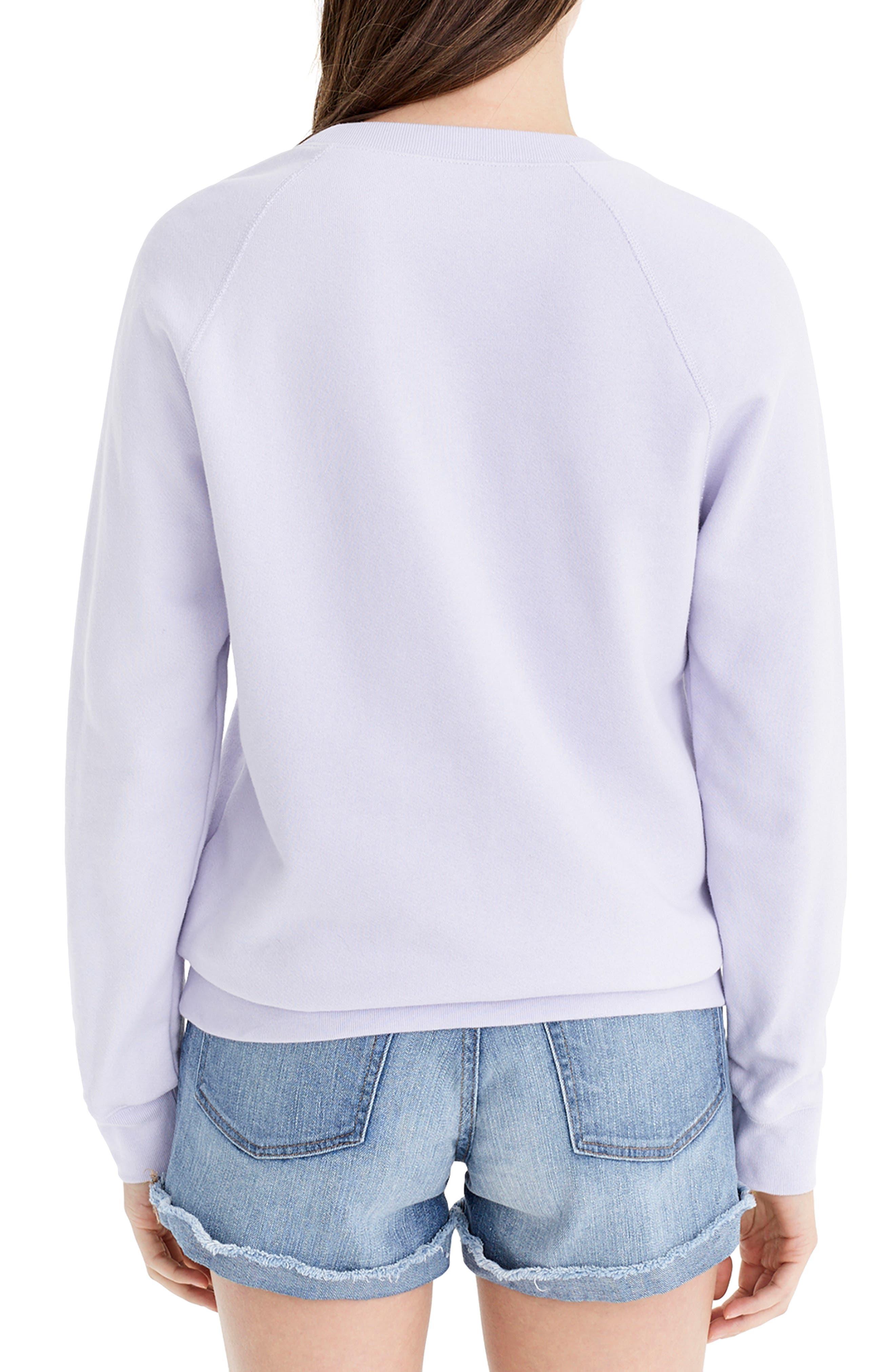 ,                             Portami a Positano Raglan Sweatshirt,                             Alternate thumbnail 2, color,                             SWEET HYACINTH