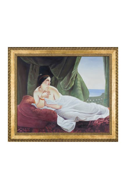 """Image of Overstock Art Reclining Odalisque with Verona Gold Braid Frame - 24.75"""" x 28.75"""""""