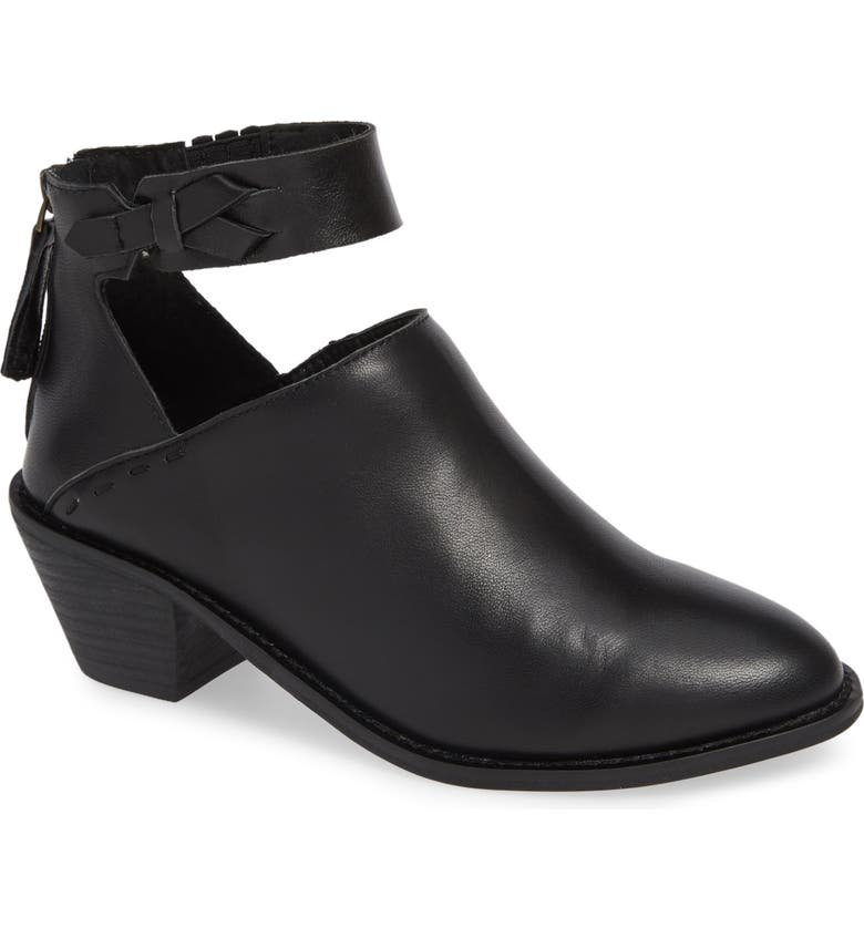 KELSI DAGGER BROOKLYN Kadeeja Bootie, Main, color, BLACK LEATHER