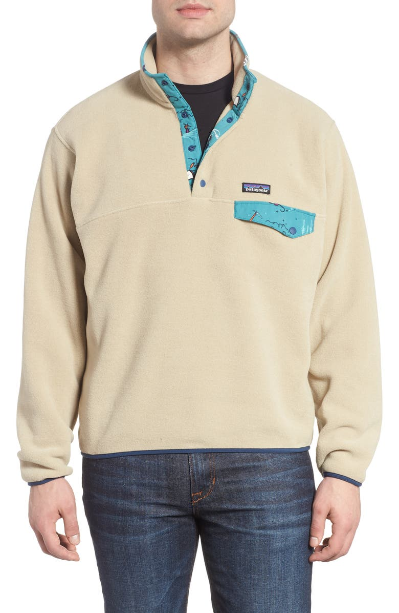 PATAGONIA Synchilla<sup>®</sup> Snap-T<sup>®</sup> Fleece Pullover, Main, color, EL CAP KHAKI