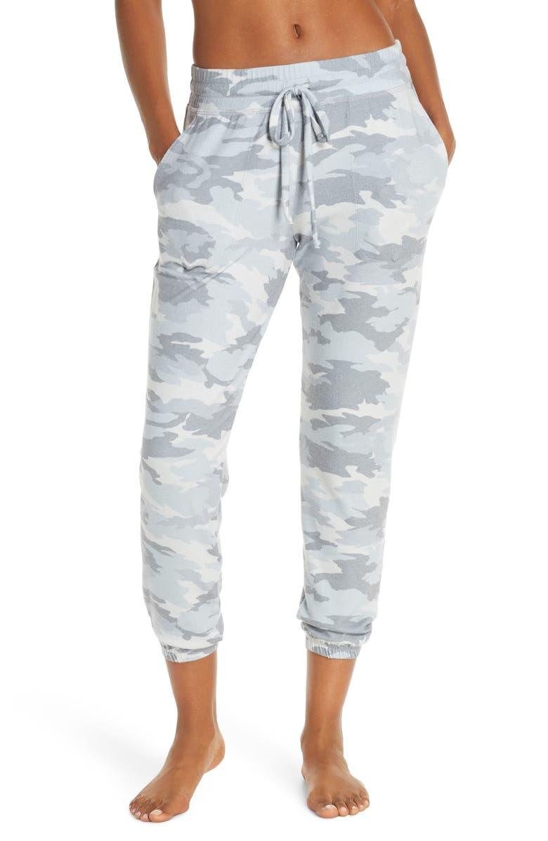BEYOND YOGA Living Easy Midi Sweatpants, Main, color, GRAY CAMO HEATHER
