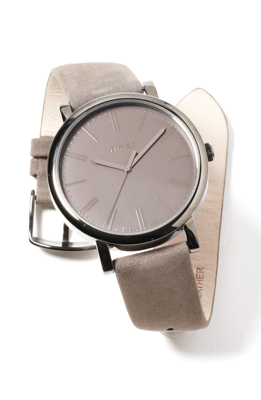 ,                             'Easy Reader' Leather Strap Watch, 42mm,                             Alternate thumbnail 5, color,                             020