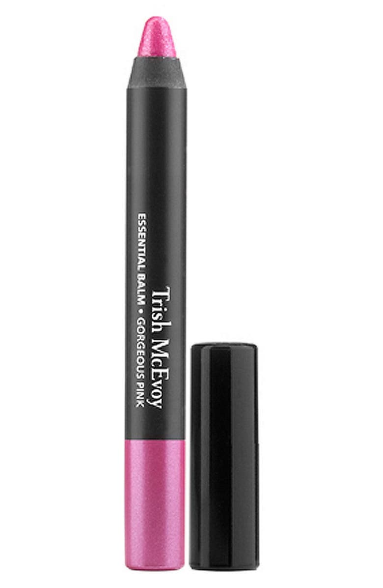 TRISH MCEVOY Essential Balm Lip Crayon, Main, color, GORGEOUS PINK
