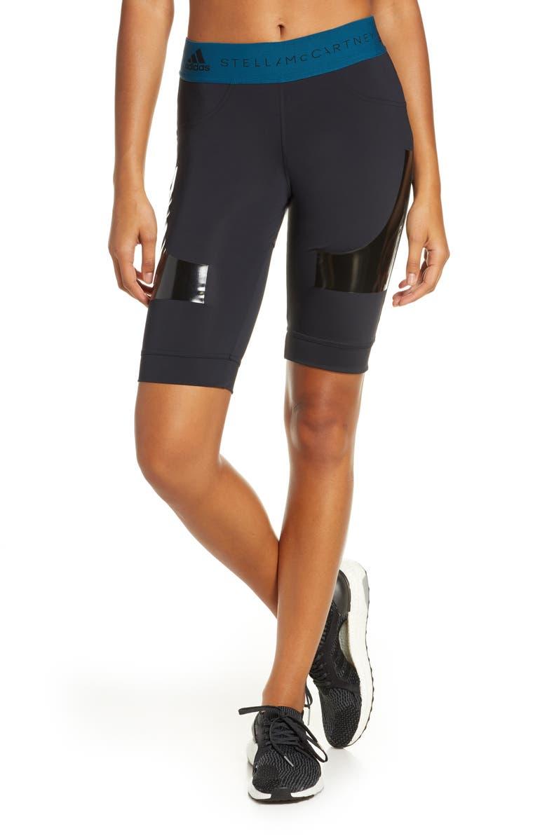 ADIDAS BY STELLA MCCARTNEY Hybrid Shorts, Main, color, BLACK