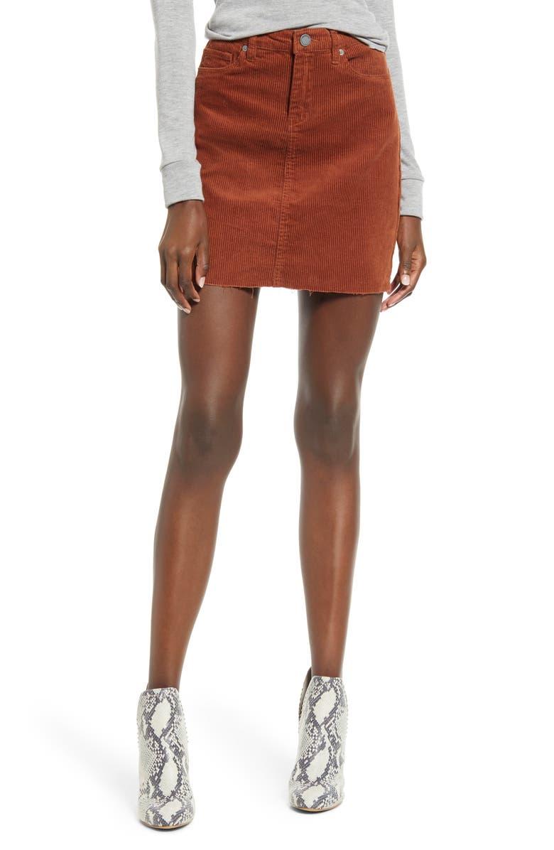 BLANKNYC Corduroy A-Line Miniskirt, Main, color, ATLAS
