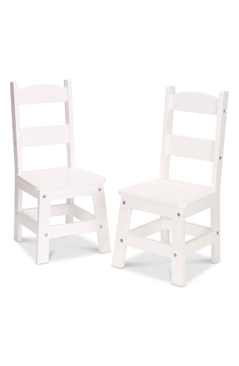 MELISSA & DOUG Set of 2 Wooden Chairs, Main, color, MULTI