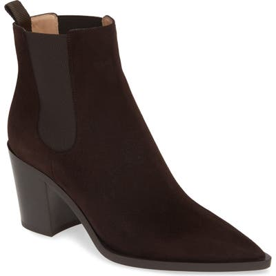 Gianvito Rossi Pointy Toe Chelsea Boot - Brown