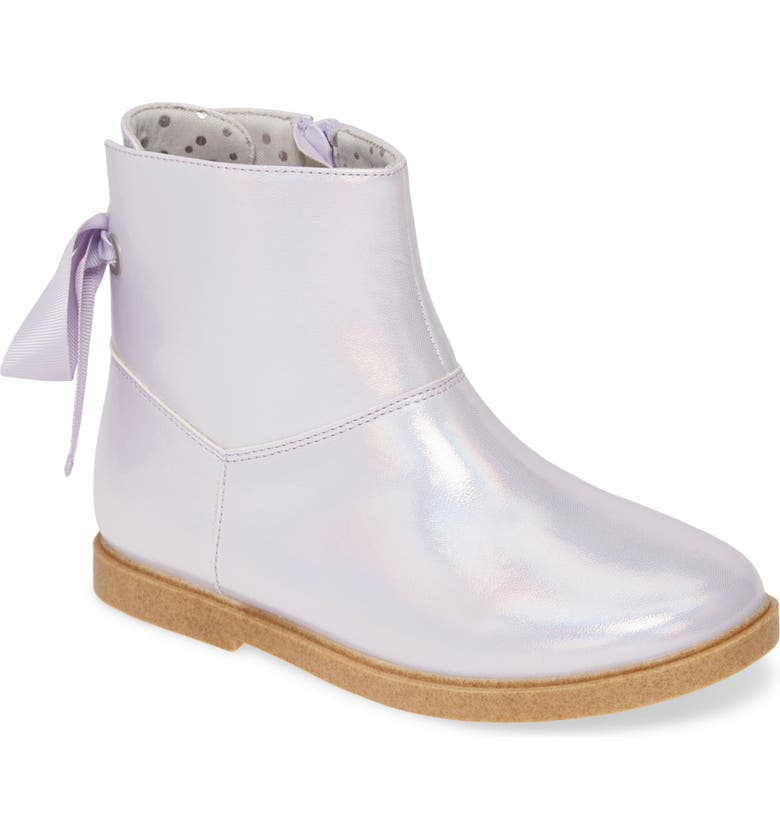 TUCKER + TATE Iridescent Bow Bootie, Main, color, 500