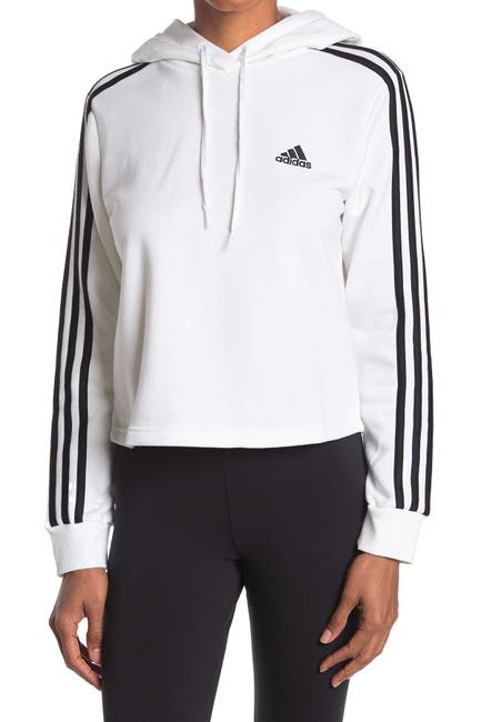 Image of adidas Essentials 3-Stripes Cropped Hoodie