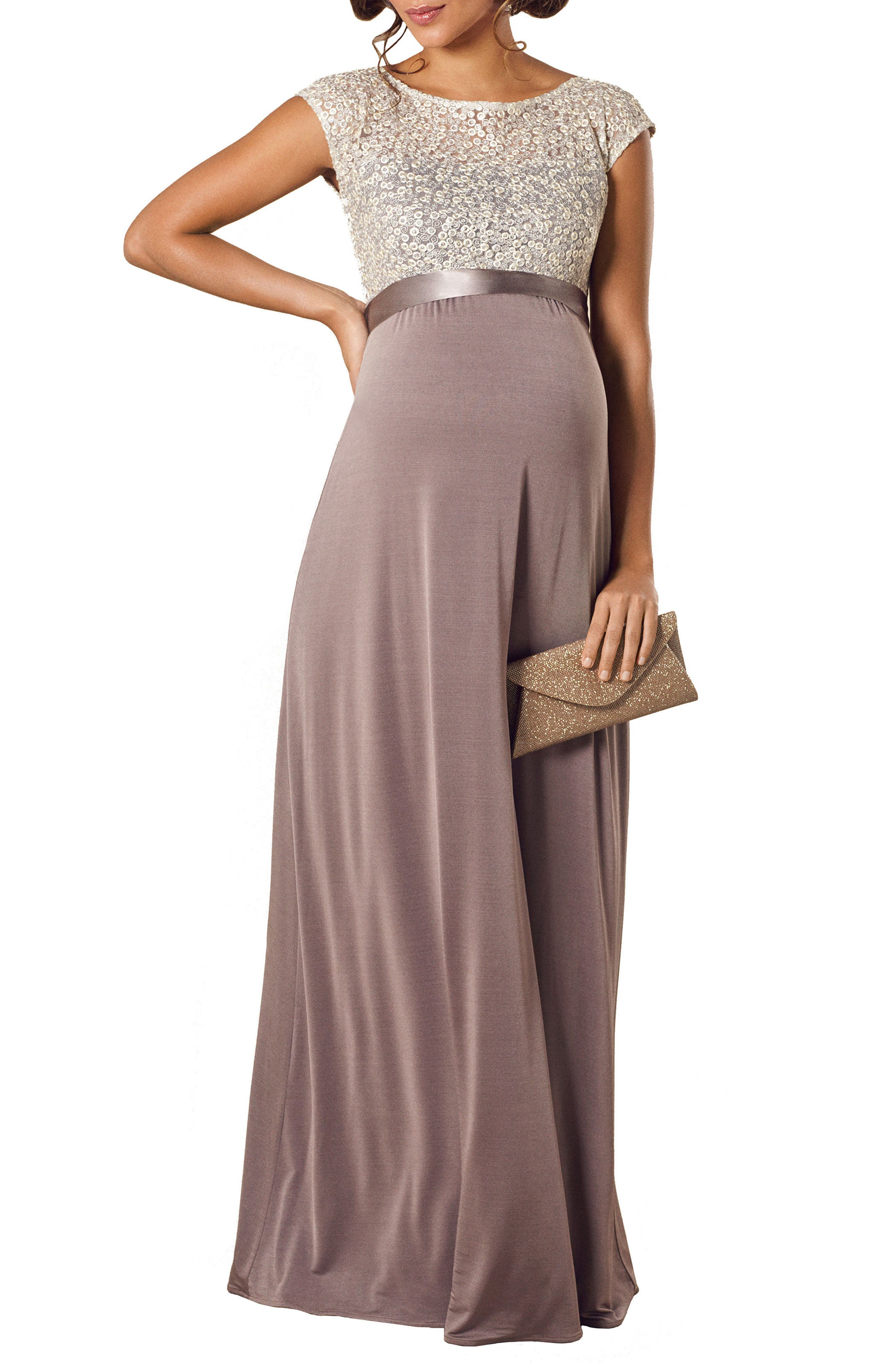 Tiffany Rose Mia Maternity Gown, Grey