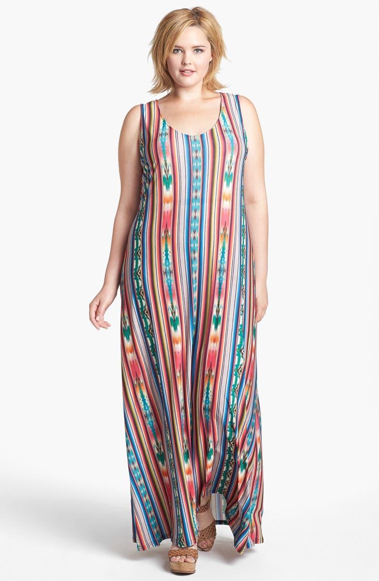 \'Tate\' Print Tank Maxi Dress