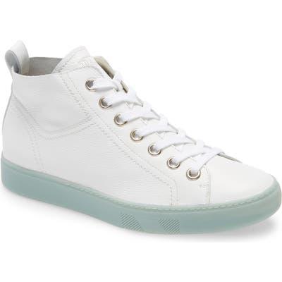 Paul Green Charlie High Top Sneaker, .5UK - White