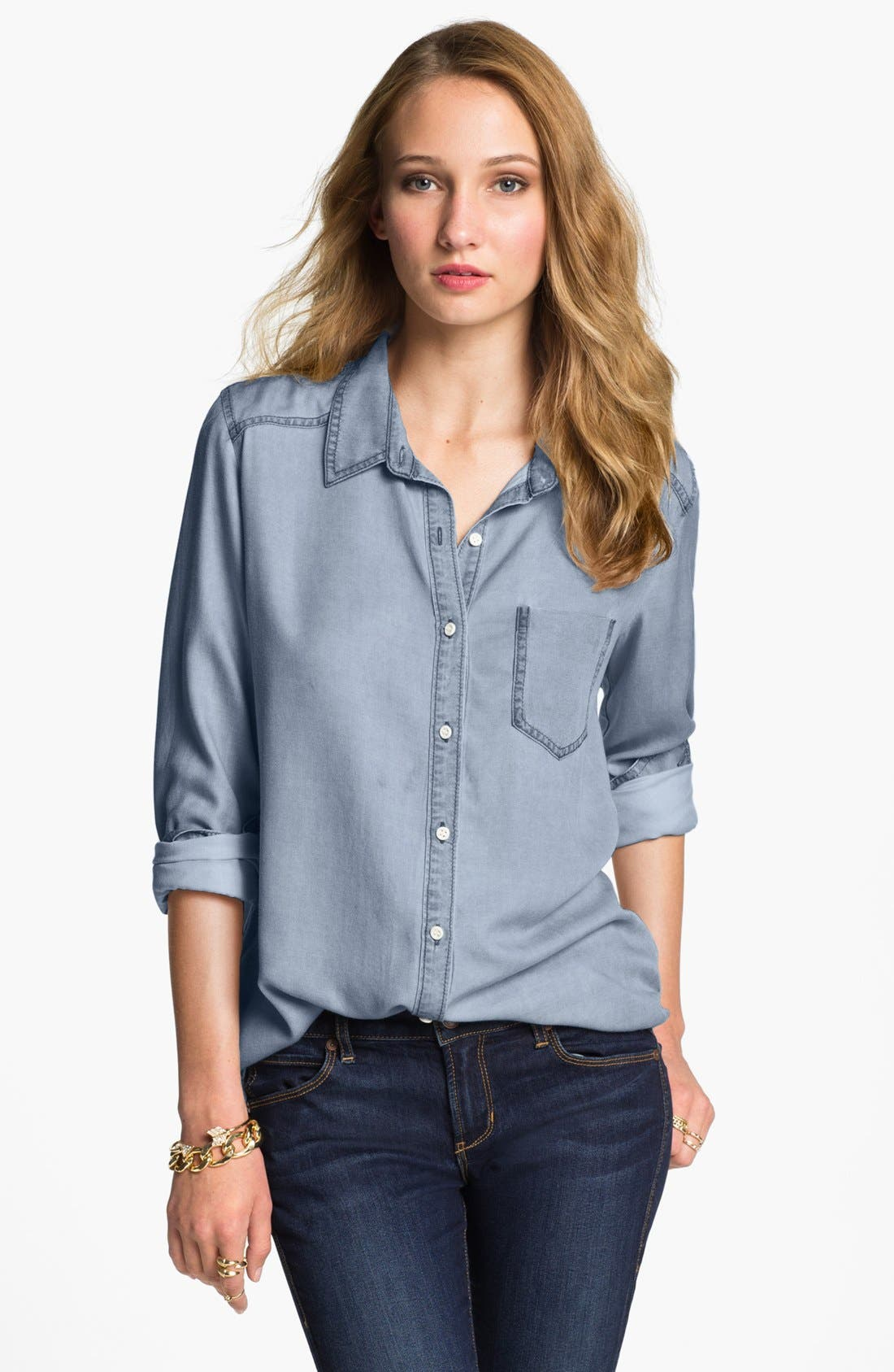 ,                             Rubbish Oversized Menswear Shirt,                             Main thumbnail 6, color,                             410