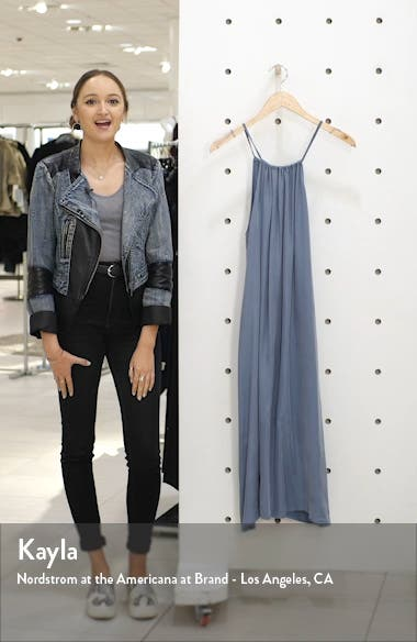 Isla Sleeveless Halter Midi Dress, sales video thumbnail