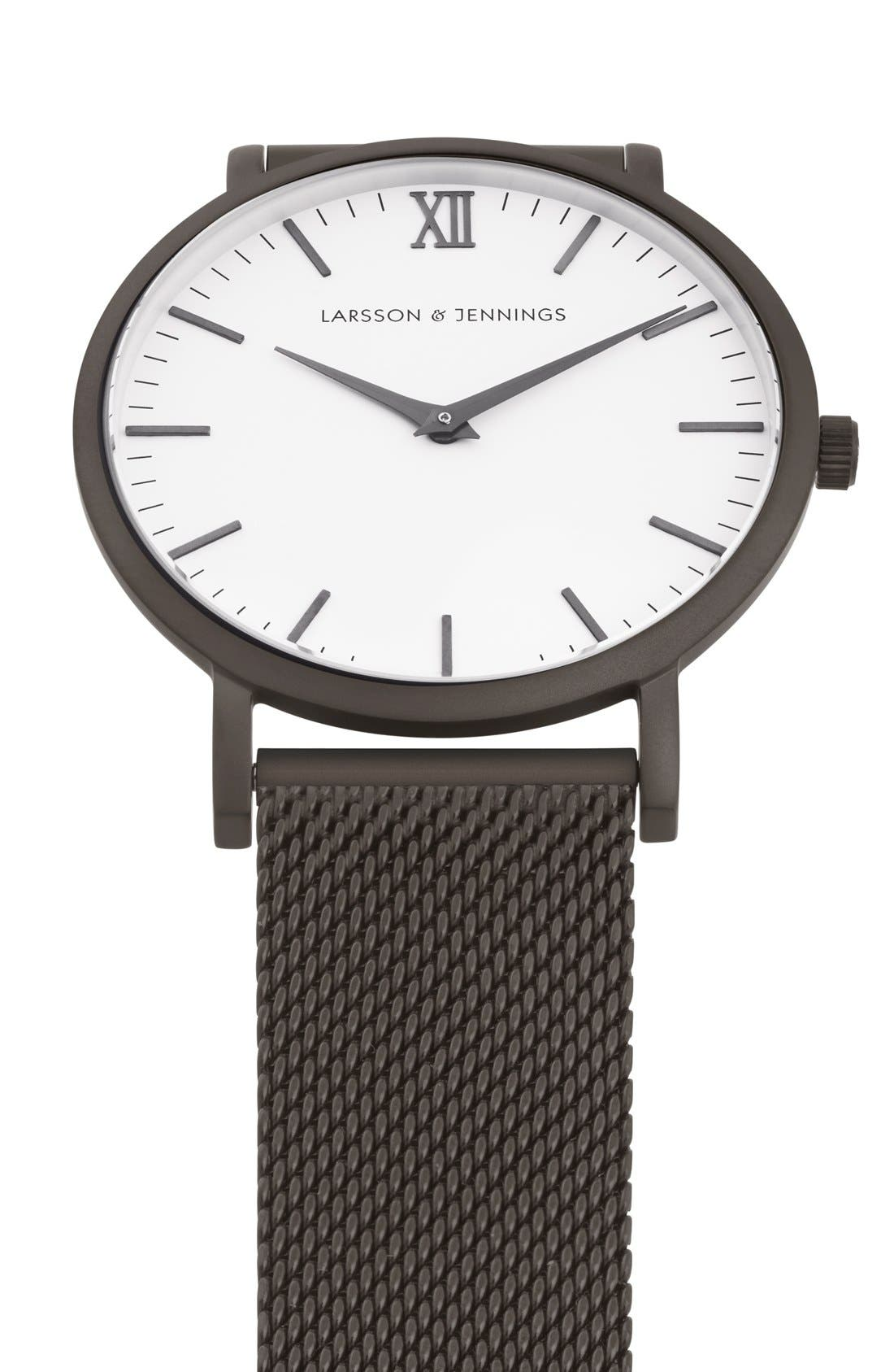 ,                             Lugano Mesh Strap Watch, 40mm,                             Alternate thumbnail 9, color,                             020