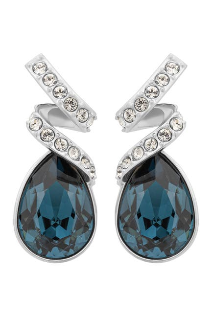 Image of Swarovski Crystal Ribbon & Pear Stud Earrings