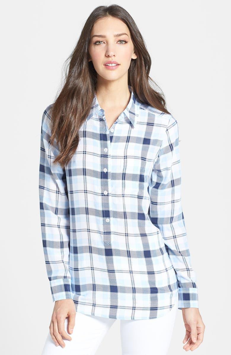 EQUIPMENT 'Capri' Plaid Silk Shirt, Main, color, 404