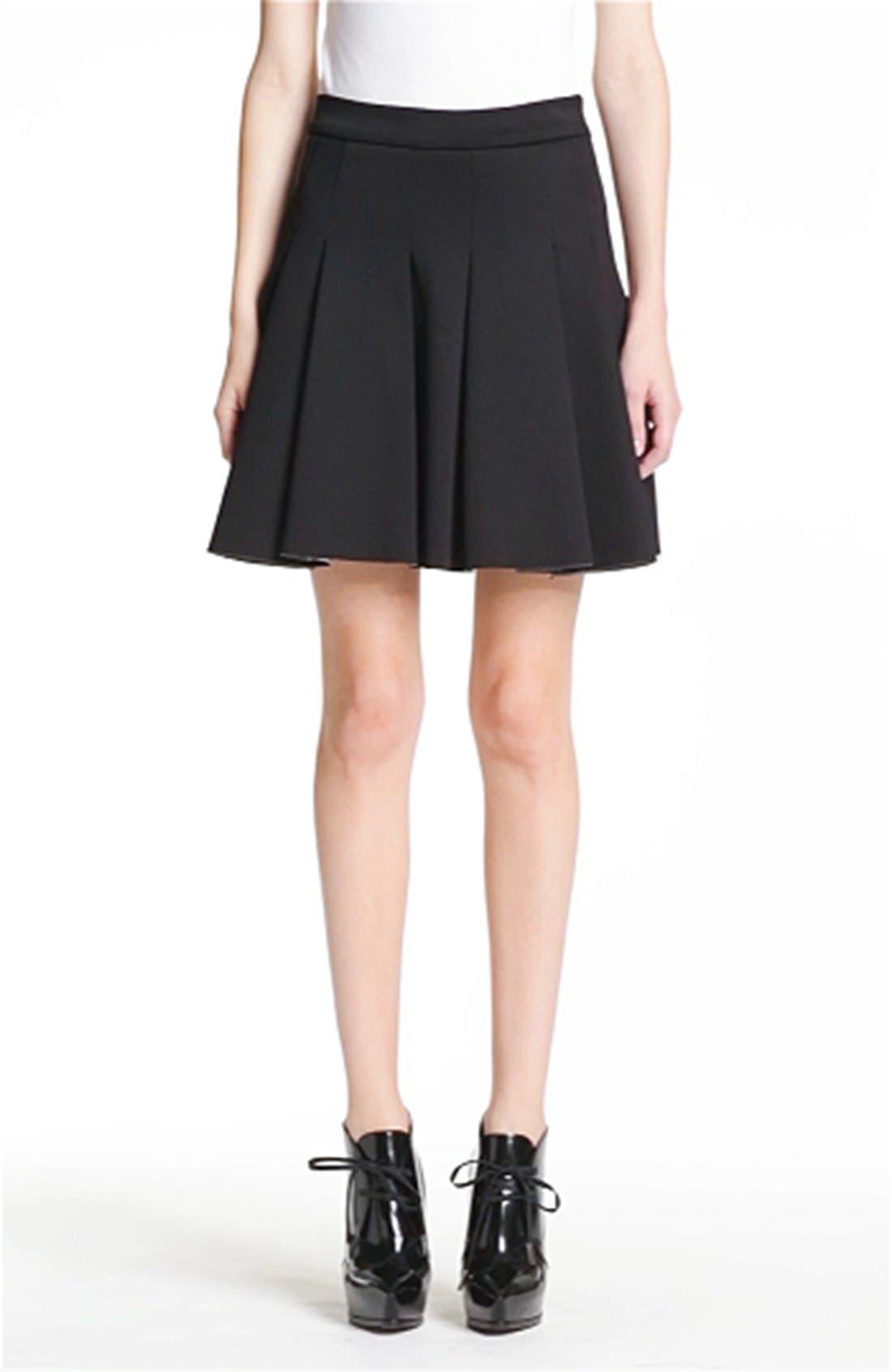 ,                             T by Alexander Wang Bonded Jersey & Neoprene Skirt,                             Alternate thumbnail 4, color,                             001