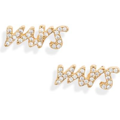 Kate Spade New York Pave Mrs. Stud Earrings