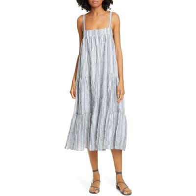 Jenni Kayne Summer Stripe Cotton Blend Sundress, Blue