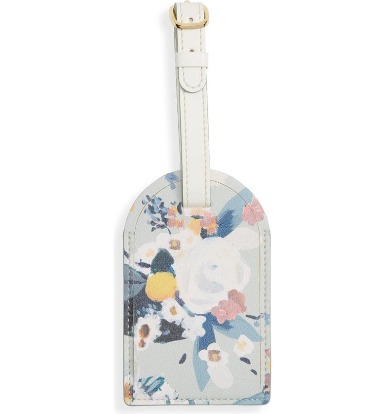 ANTHROPOLOGIE HOME Maribel Painted Faux Leather Luggage Tag, Main, color, MULTI