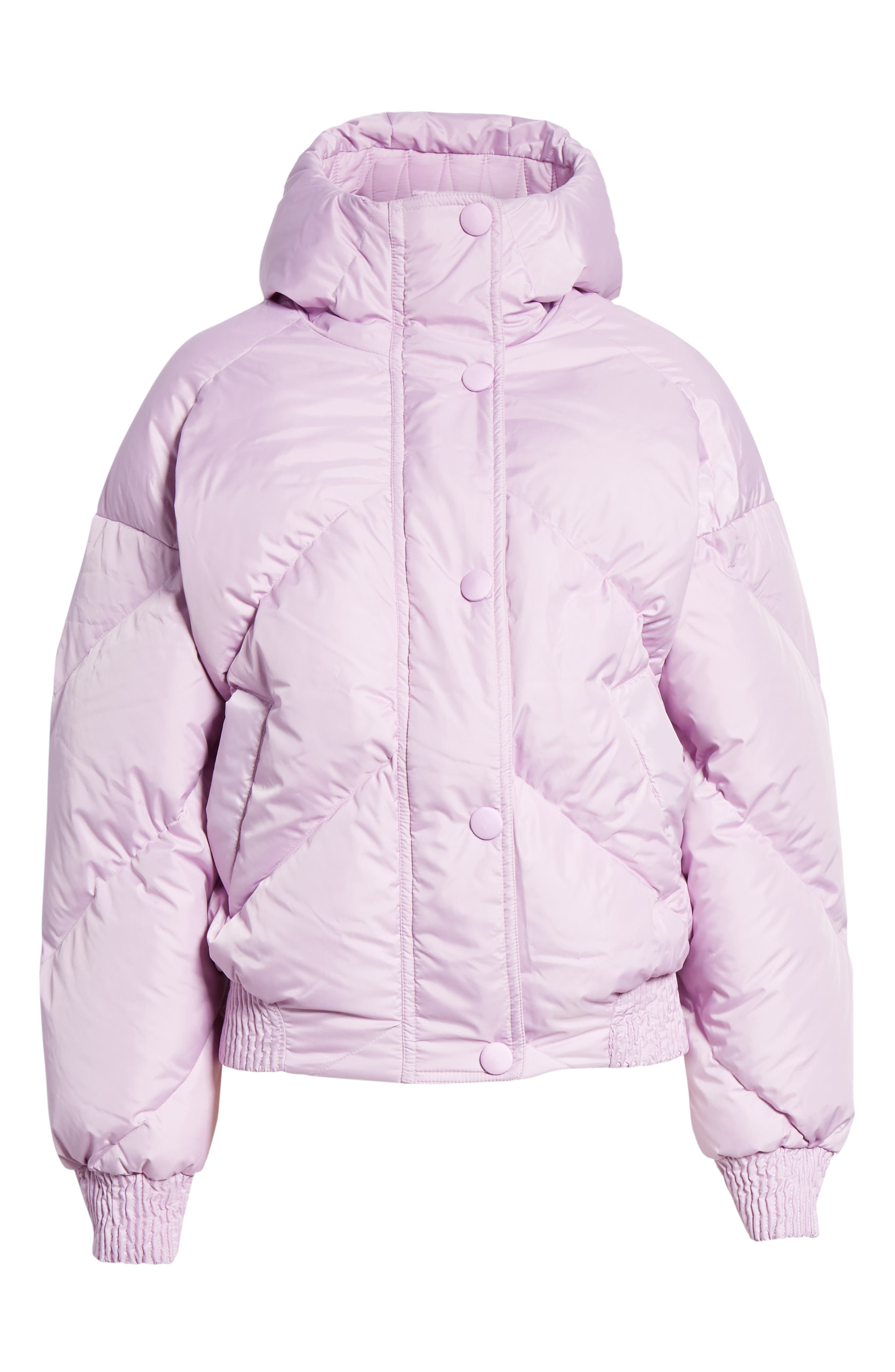 ,                             Dunlope Hooded Down Puffer Coat,                             Alternate thumbnail 6, color,                             MAURI CRISTAL