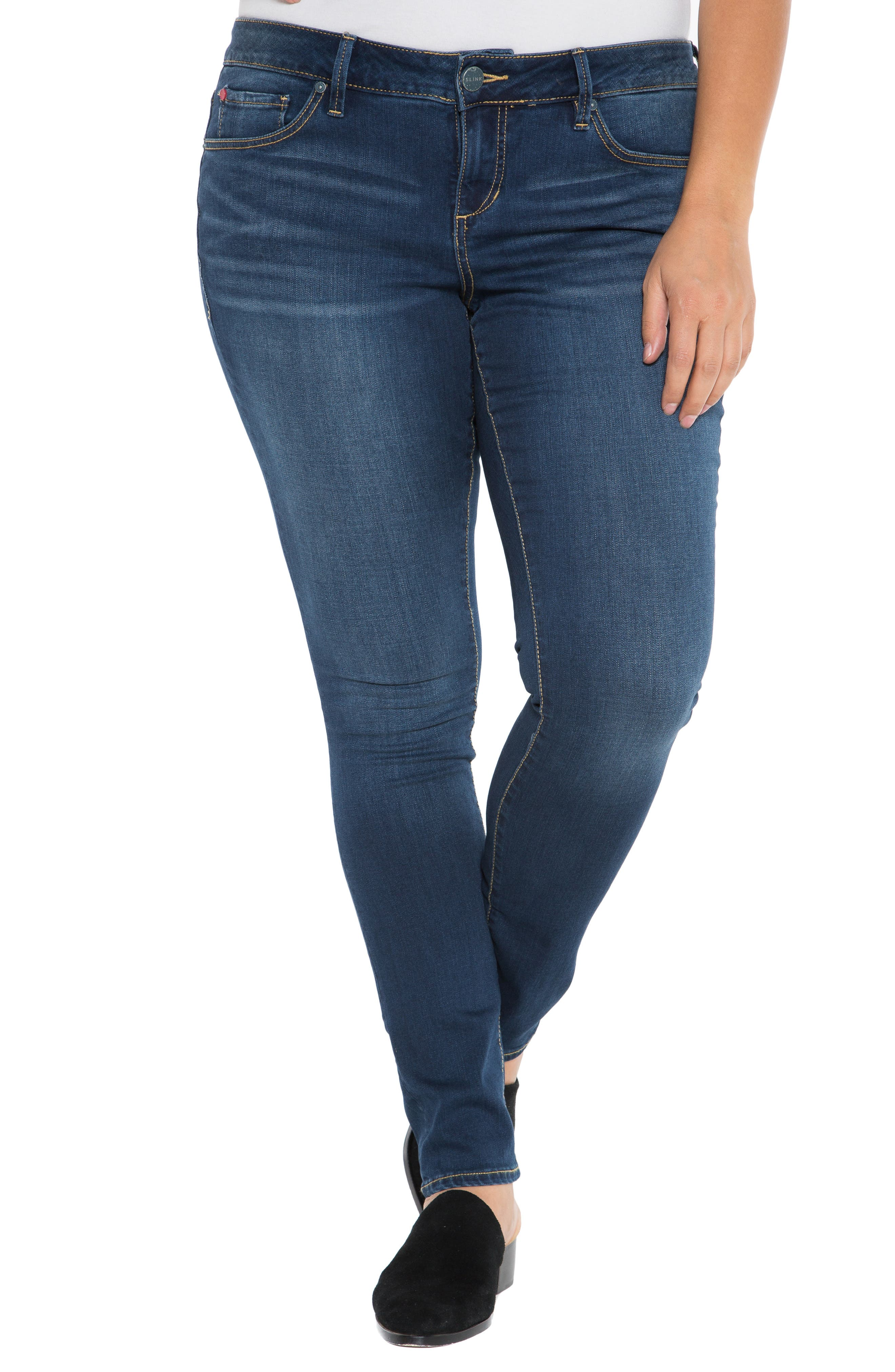 ,                             'The Skinny' Stretch Denim Jeans,                             Main thumbnail 1, color,                             AMBER