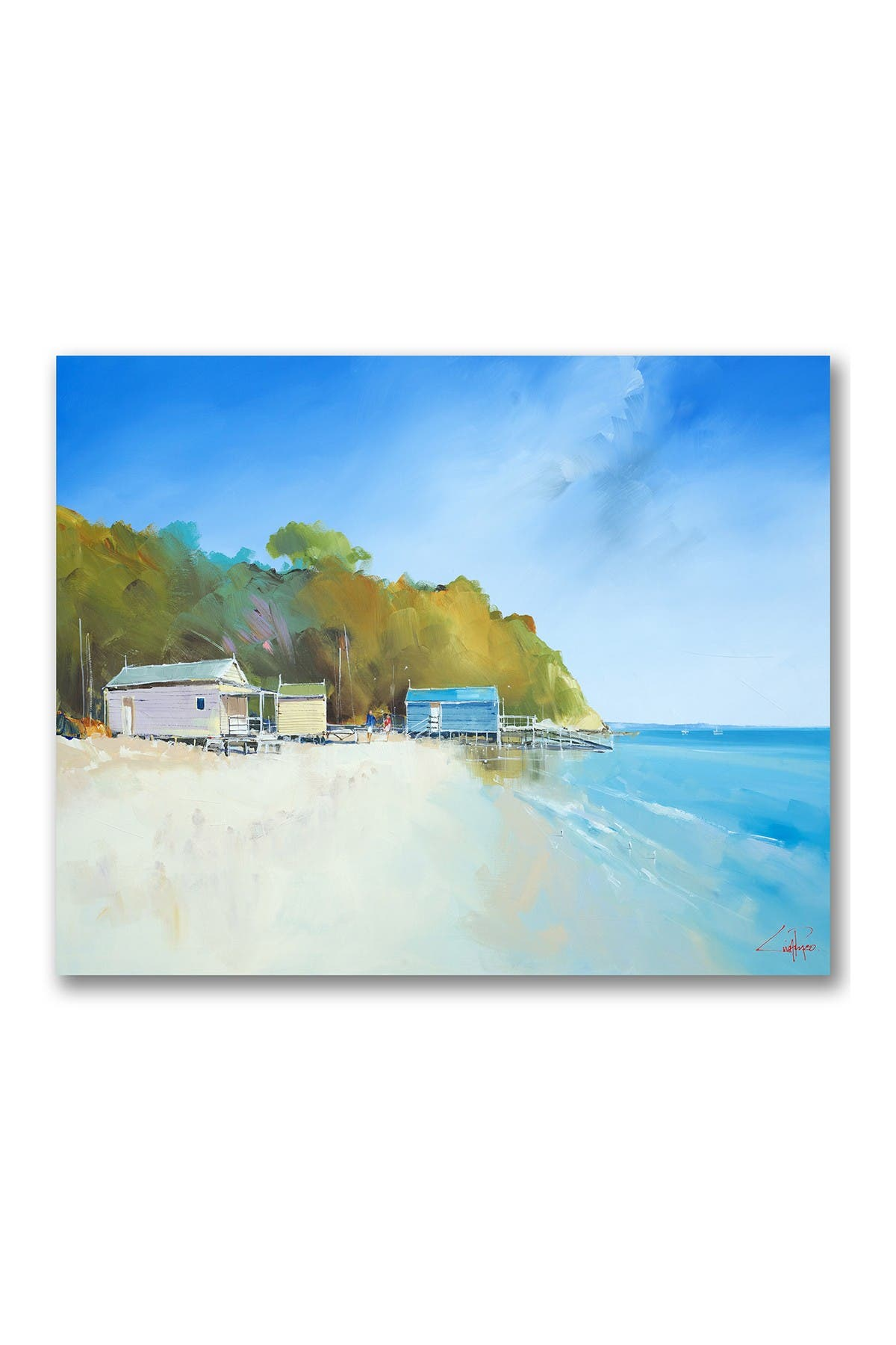 Courtside Market Walk On Shelly Beach Gallery Wrapped Canvas Wall Art Nordstrom Rack